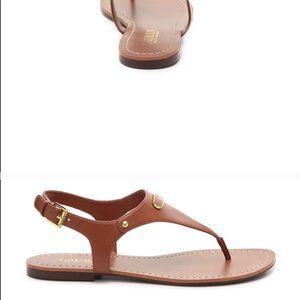 Ralph Lauren Shoes - Ralph Lauren Patsi Sandal Flats - cognac - Sz 9
